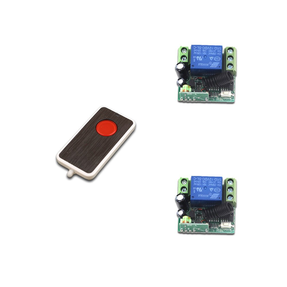 Latest DC12V Mini Wireless Remote Control Switch 1Channal Intelligent Family System 2X Receiver with Transmitter 315/433mhz