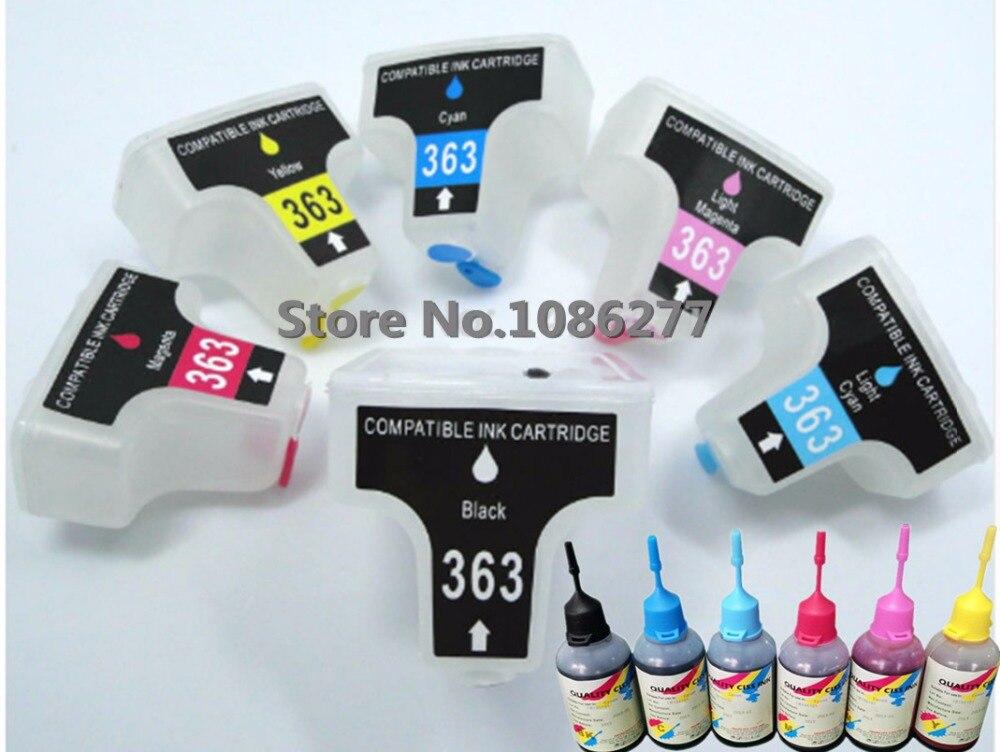 خرطوشة حبر فارغة قابلة لإعادة الملء لـ HP 363 ، HP363 ، 6x50 مللي ، حبر صبغ HP ، لـ photo smart 3210 ، 3210v ، 3210xi ، 3213 ، 3310 ، 3310xi