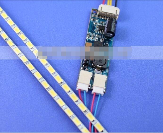 جديد!! 10 قطعة العالمي LED الخلفية مصابيح تحديث كيت ل LCD رصد 2 LED شرائط دعم إلى 24 ''540 مللي متر شحن مجاني