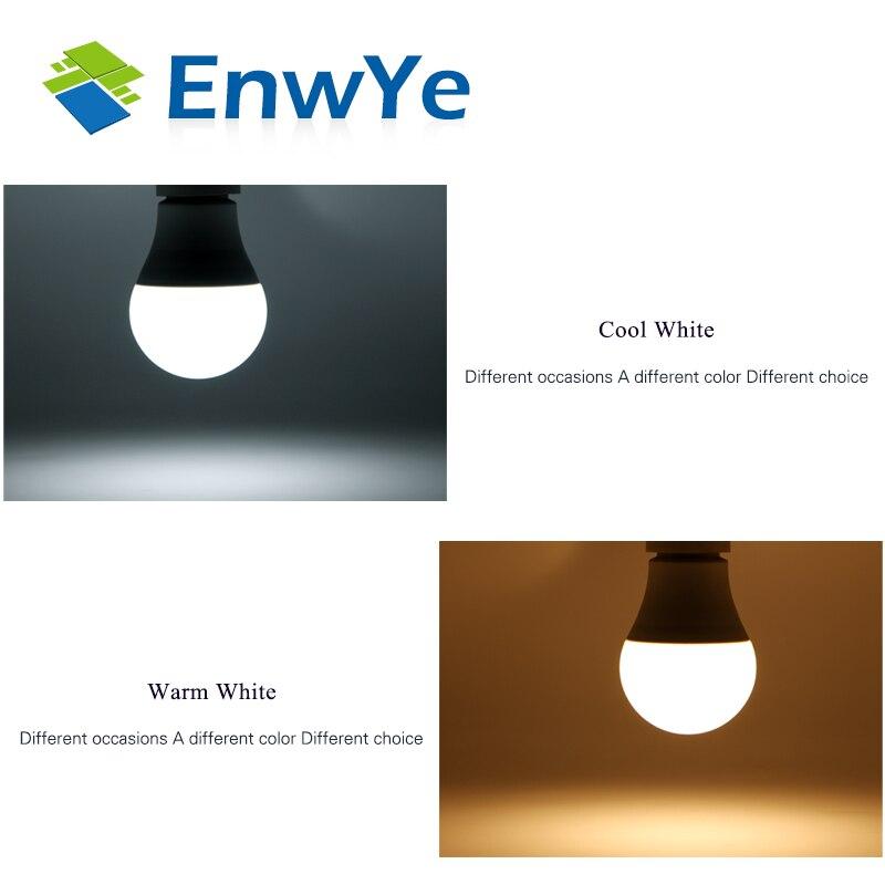 EnwYe LED E14 lámpara LED E27 bombilla LED 220 V AC 230 V 240 V 15 W 12 w 9 W 6 W 3 W Lampada LED proyector lámparas lámpara de mesa de luz