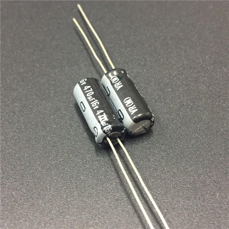 100 Uds 470uF 16V NICHICON VR serie 6,3x15mm 16V470uF condensador electrolítico de aluminio