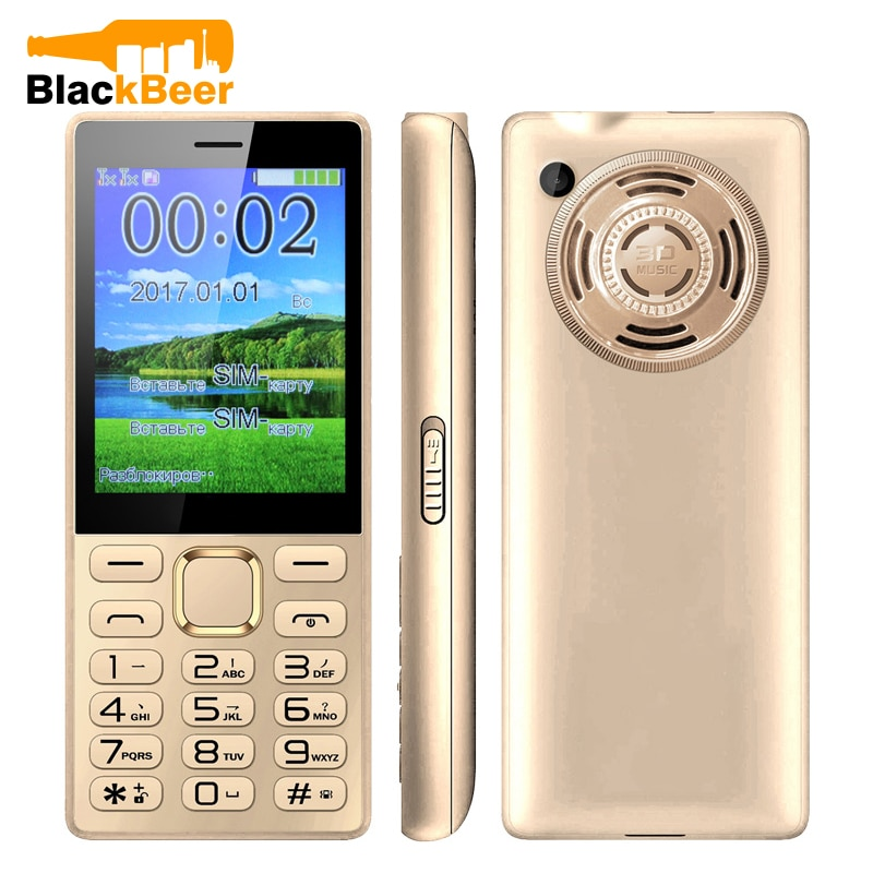 Mosthink GIOWEE i216 característica teléfono móvil 2G GSM desbloqueado Botón de tecla grande altavoz Cámara viejo teléfono inalámbrico FM Radio