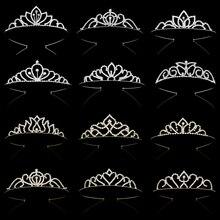 Couleur or princesse diadèmes et couronnes reine couronne bandeau accessoires enfants cheveux bijoux mariage bal cheveux ornements