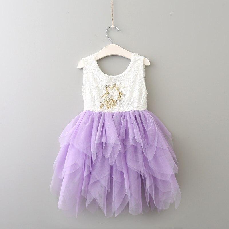 Everweekend niñas Tutu flores con volantes cumpleaños boda fiesta vestidos espalda descubierta caramelo rosa azul púrpura Color verano moda Dresse