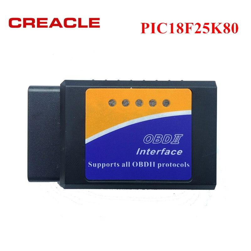 OBD2 ELM327 V1.5 с чипом PIC18F25K80 диагностический инструмент Mini ELM327 V 1,5 Bluetooth 3,0 для Android Считыватель кодов Авто Автомобильный сканер