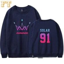 Mamamoo purple 2019 hoodies 여성 플러스 사이즈 프린트 셔츠 한국 핫 세일 캐주얼 셔츠 winter hoodies girl clothes