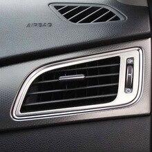 Garniture de cadre de ventilation de voiture   ABS Chrome pour Hyundai Sonata 2015 2016 2017 accessoires de voiture, sortie de lair de voiture
