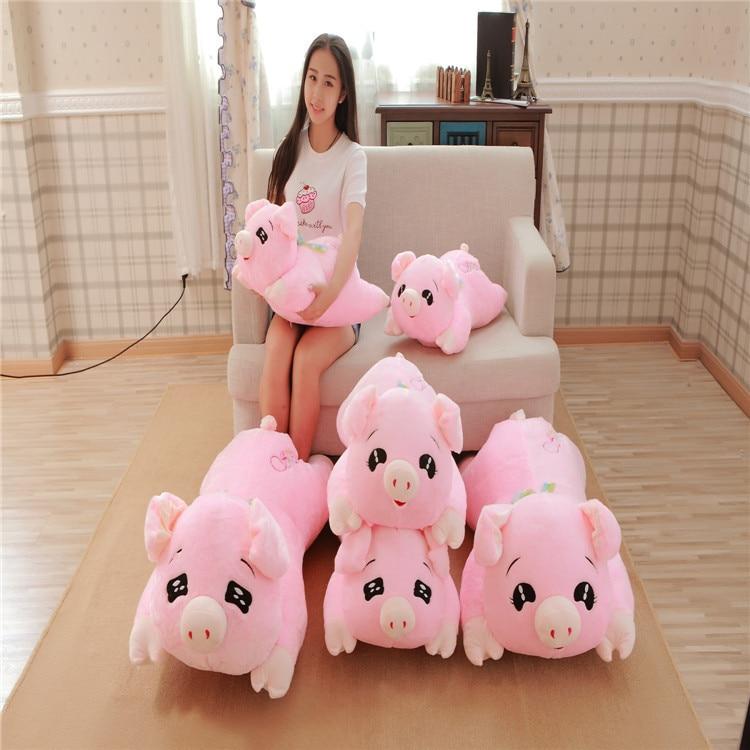 Новое поступление, милая, большой размер, лежа, свинка, кукла, плюшевая игрушка, розовая свинка, подушка, мягкая, животное, подарок для детей