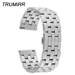 Ремешок из нержавеющей стали для LG G Watch W100 W110 Urbane W150 ASUS Zenwatch 2 Pebble Time, 22 мм