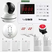 Systeme dalarme de securite domestique sans fil  GSM  433MHz  clavier tactile  anti-cambriolage
