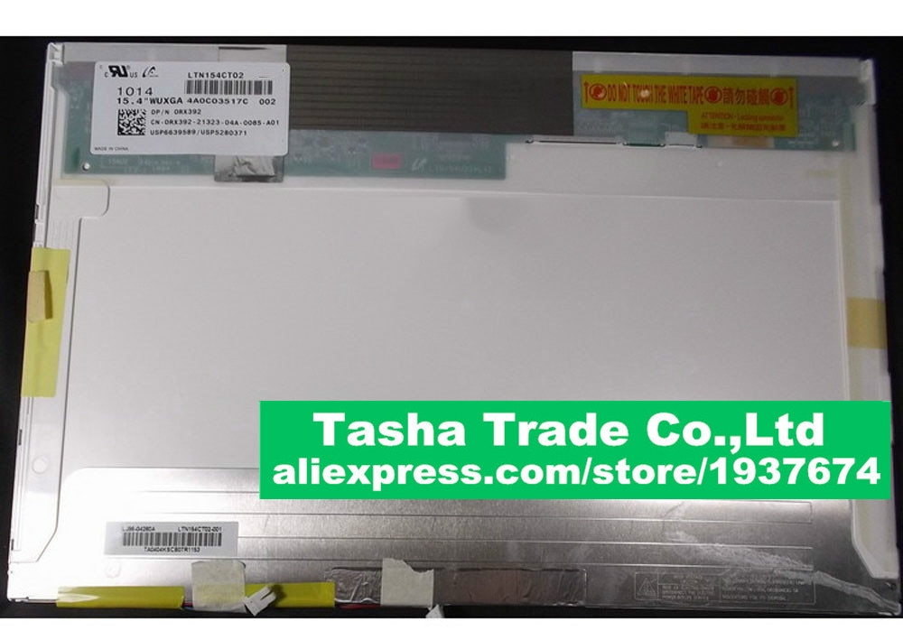 "LTN154CT02 DELL Precision M4400 latitud E6500 pantalla LCD de matriz LED pantalla WUXGA 15,4 ""1920*1080 FHD mate"