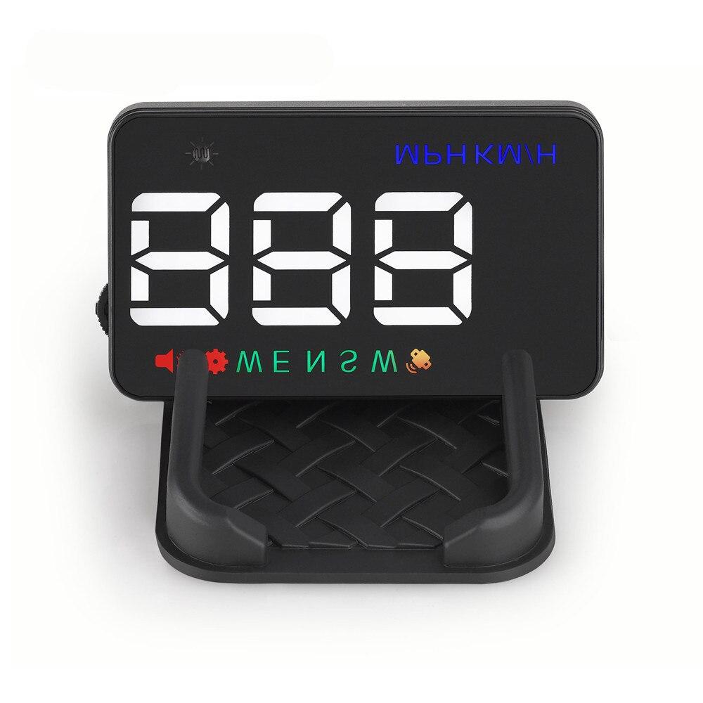 Velocímetro Universal de HUD GPS para coche RMLKS A5, pantalla Digital de cabeza alta, alerta de velocidad, parabrisas, navegador automático