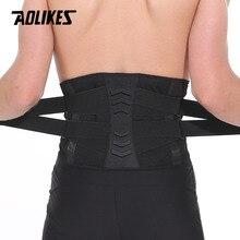 AOLIKES taille formateur Fitness haltérophilie soutien 4 ressorts ceinture de soutien réglable élastique hommes femmes ceinture Sport lombaire orthèse