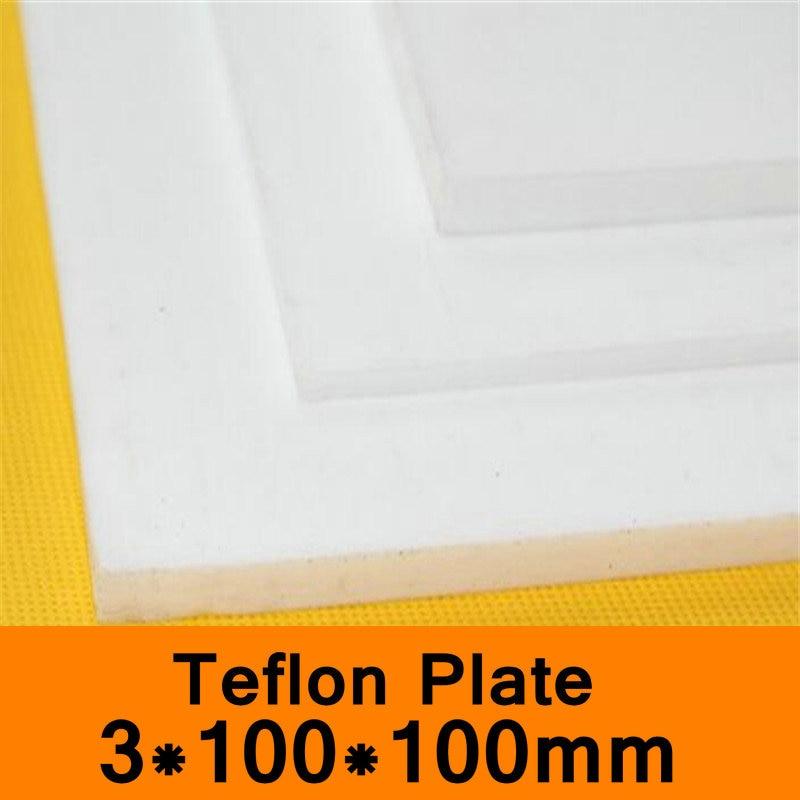 PTFE лист 3x100x100 мм тефлоновая пластина тефлоновая доска блок политеф политетрафторэтиленовая пластина Антикоррозийная высокая температура