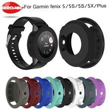 Funda protectora de silicona para Garmin fenix 5/5S/5X, carcasa protectora de pulsera para reloj inteligente Fenix 5x 5S 5 Plus