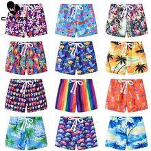 Kids Zomer Swim Shorts Baby Jongens Meisjes Badmode Peuter Kids Fashion Print Badmode Badpak Strand Korte Broek Casual Kleding