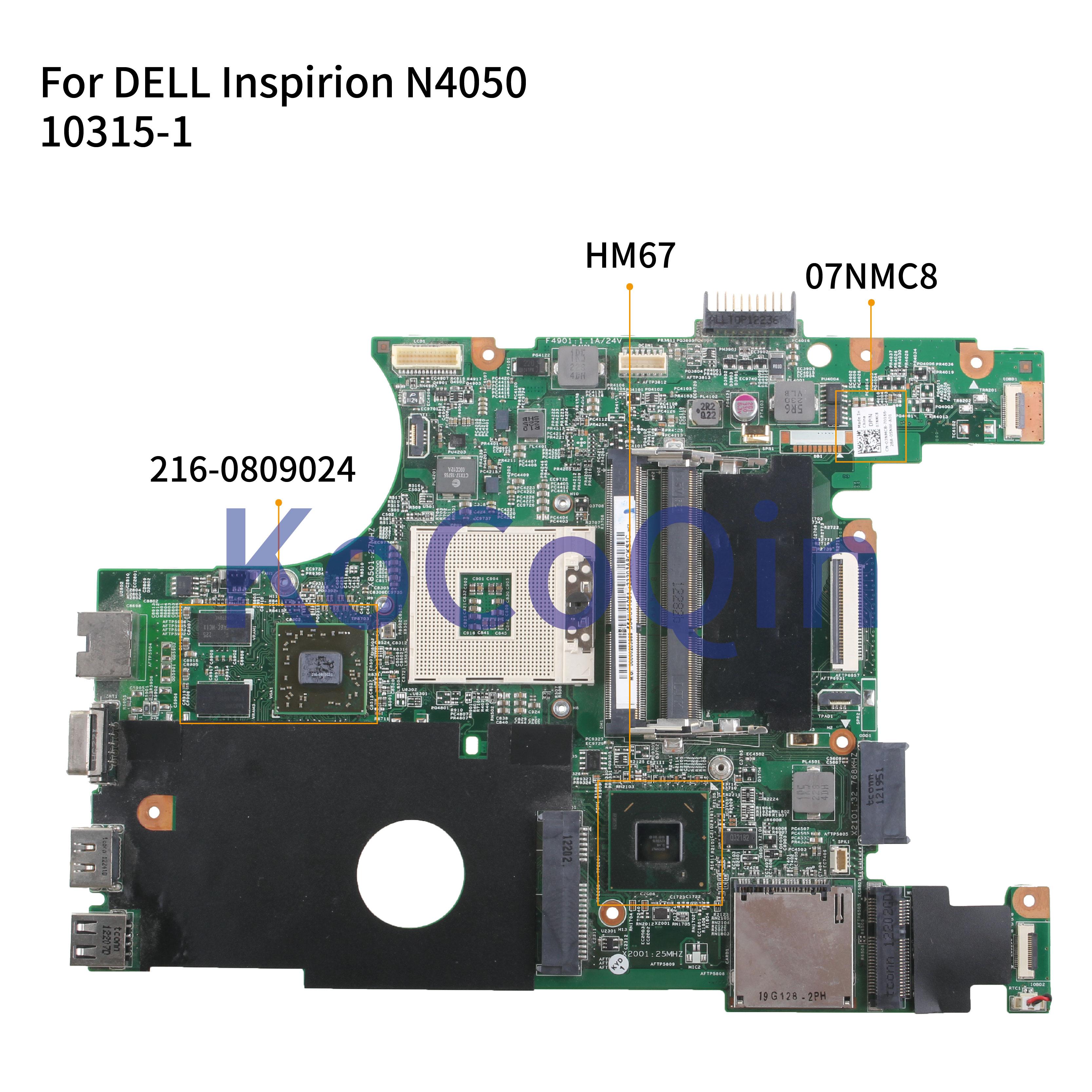 KoCoQin Laptop motherboard Für DELL Inspiron 14R N4050 HD6470M Mainboard CN-07NMC8 07NMC8 48.4IU15.01M 10315-1M 216-0809024