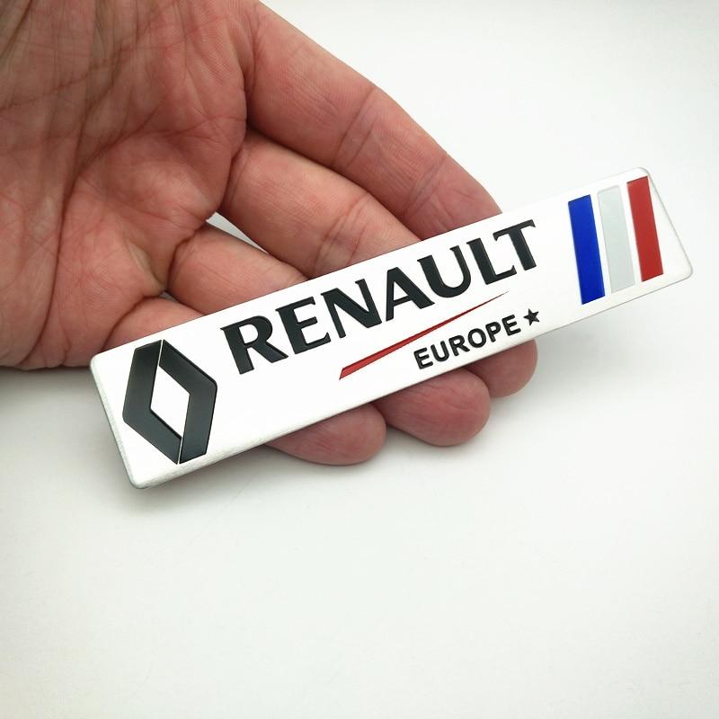 FDIK  for Renault Metal Wheat logo car emblem Aluminum paste Fender Side Sticker for Koleos KADJAR Fluence TALISMAN MEGANE