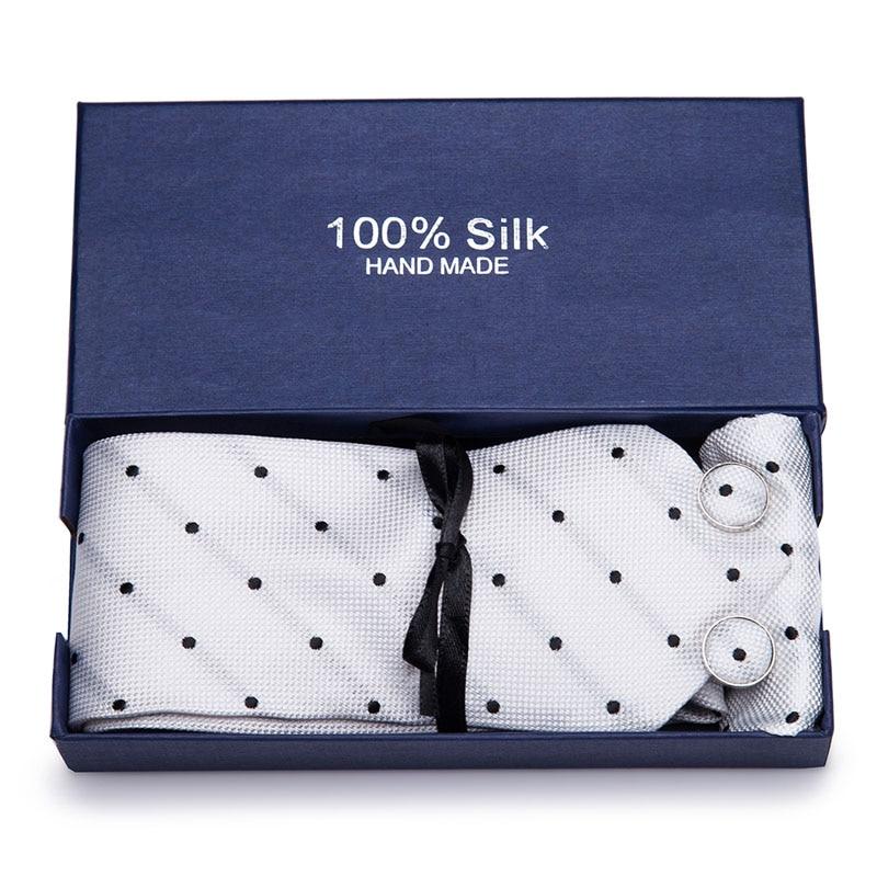 Corbata de cachemir personalizada para hombre, corbata ancha de flores para hombre, pañuelo conjuntos, accesorios para traje de hombre, caja de regalo