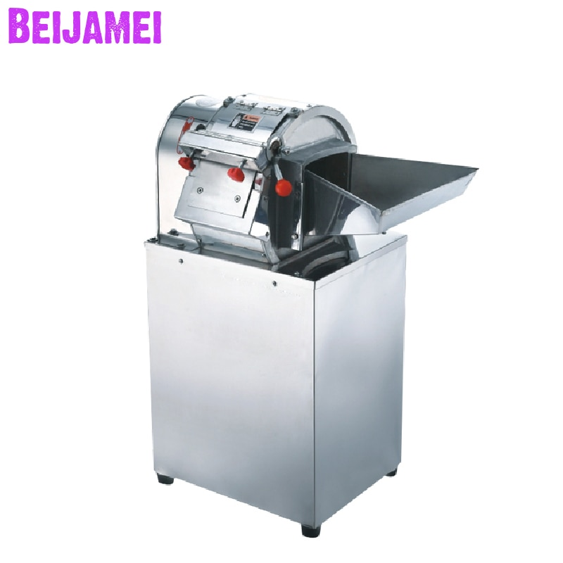 Beijamei 200 كجم/ساعة الكهربائية الخضار البطاطس القاطع آلة الفولاذ المقاوم للصدأ التجاري تقطيع البطاطس المقلية قطع