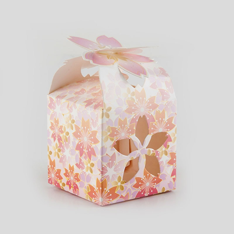 10 unids/lote caja barata para bodas diseño de loto cajas de cartón Baby Shower Candy Box embalaje bolsas de regalo y suministros de embalaje