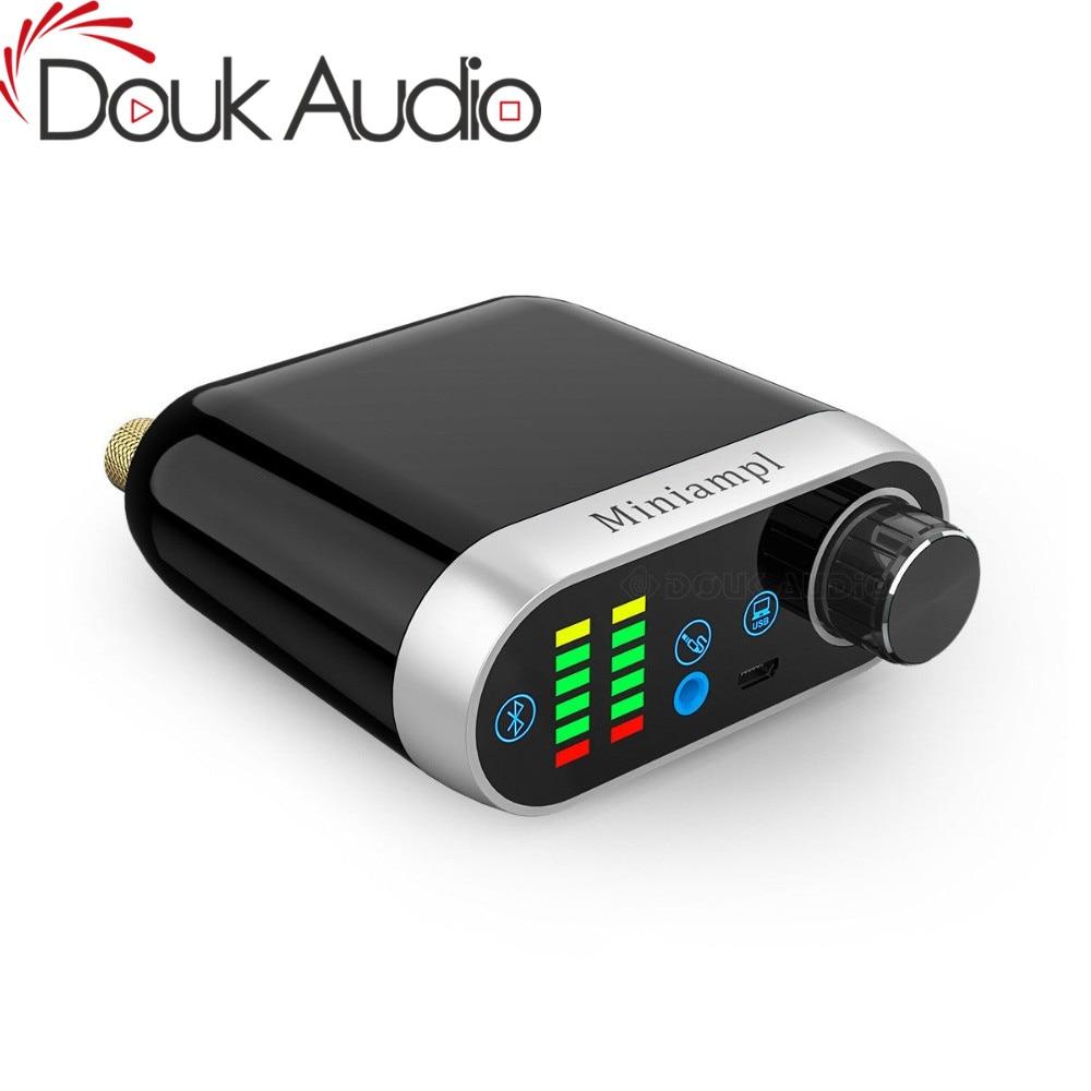 Amplificador de Áudio Placa de Som Douk Hifi Mini Bluetooth Classe d Tpa3116 Digital Amp Usb Aux 50w Áudio Doméstico 5.0