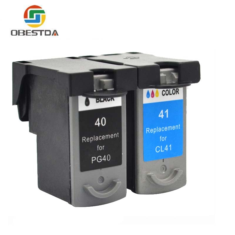Obestda cartuchos de tinta compatibles para Canon PG40 CL41 PG-40 CL-41 iP1600/IP1700/IP1800 PG 40 CL41 MP140 MP450 MP470 impresora