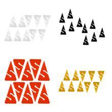10 sztuk kompaktowy w kształcie trójkąta PVC Dive kierunkowa lina strzałki markery do jaskini nurkowej i wraku nurkowanie wyposażenie ochronne