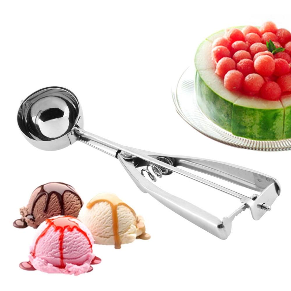 4CM 5CM 6CM Watermelon Ice Cream Scoop Mash Potato Scoop Stainless Steel Non-Stick Anti-Freeze Spoon Handle Kitchen Accessories kitchen tools