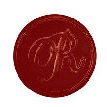 Vintage Retro Pirinç Kafa Ahşap Saplı Alfabe Mektubu İlk Wax Klasik Sızdırmazlık Wax Seal Damga (R)