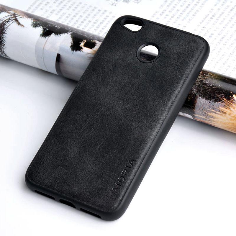 "for xiaomi redmi 4x case 5.0"" Luxury Vintage leather Skin cover phone cases for xiaomi redmi 4x funda Business coque capa"