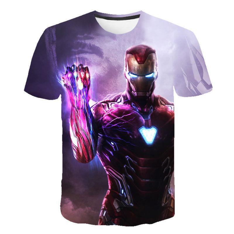 Moda vengadores 4 Endgame Quantum War 3D camisetas hombres/mujeres camisa Iron man Cosplay ajax niños camiseta homme футболка мужская