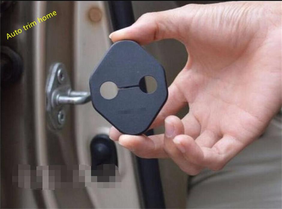 Lapetus plástico Interior de la puerta del coche bloqueo de la hebilla de la cubierta embellecedora para Toyota Rav4 RAV 4 2013 - 2018 Kit de cubierta de protección Interior