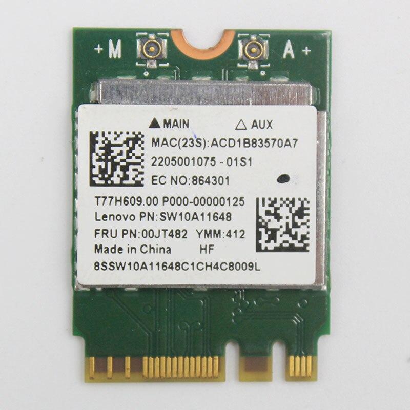 RTL8821AE 1x1AC+BT4.0 Cbt PCIE M.2 WLAN For Lenovo E41-80 B41-80 B51-80 E51-80 ideapad 710s-13isk Series,FRU 00JT482 SW10A11648