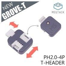 M5Stack nouveau connecteur bosqu-t 5 pièces un Pack PH2.0 4Pin T Type connecteur den-tête de bosquet avec 3 Ports compatibles avec Grove Demoboard