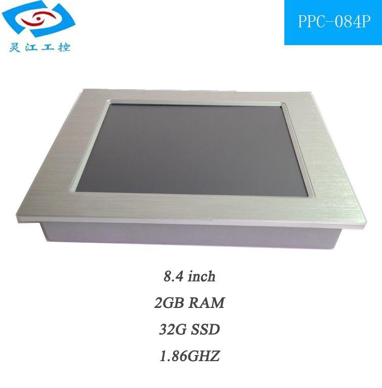 Pantalla táctil sin ventilador todo en uno panel integrado resistivo pc 32G SSD 2G RAM pantalla táctil pos
