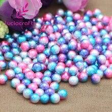 Lucia artisanat 3/4/5/6/8/10mm pas de trous perles de vêtement rondes perles dimitation pour accessoires de bricolage E0902