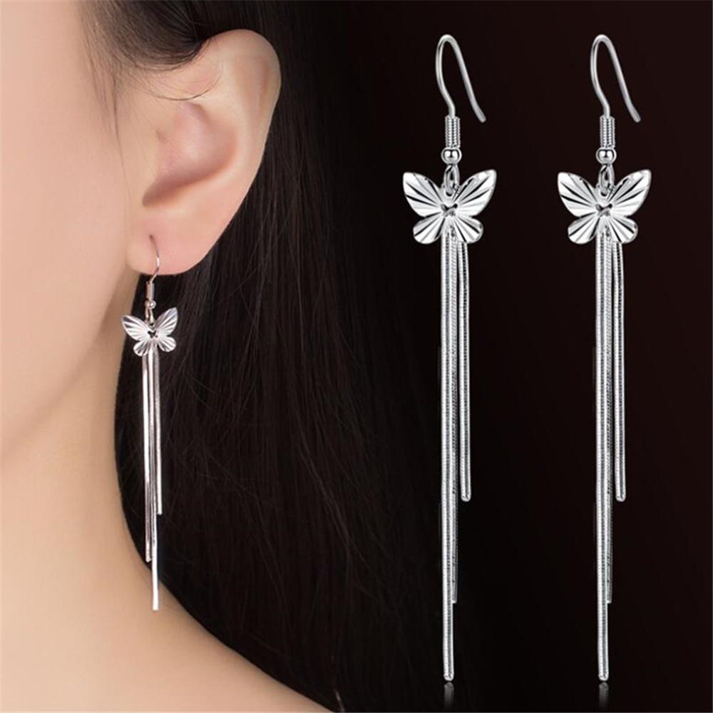 NEHZY 925 sterling silver new Woman Female ear wire fashion long section of the Drop Earrin butterfl