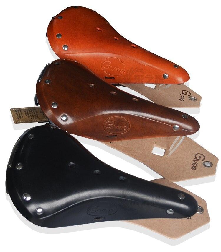 2016 Retro Bicycle saddle /retro leather saddle/Gyes saddle GS17B of  road bike  for men