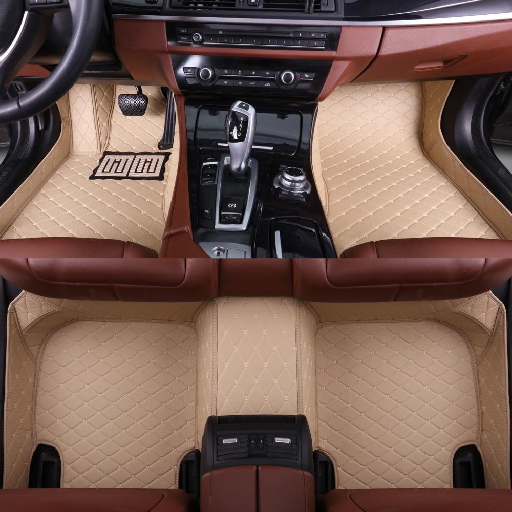 Car floor mats made for Hyundai Rohens Genesis Coupe Tucson ix35 Elantra anti-slip car styling case rugs carpet liners