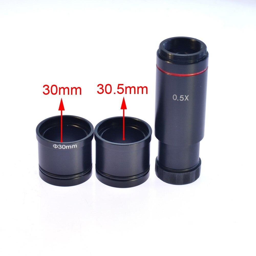 Hayear câmera de vídeo microscópio 0.5x c-montagem lente adaptador 23.2mm 30mm 30.5mm ccd cmos câmera adaptador digital ocular acessórios