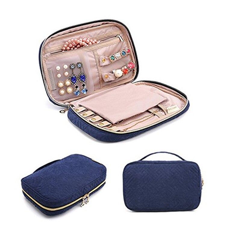 ROMAD embalaje de joyería portátil caja de transporte collar pulsera pendiente anillo reloj bolsa con cierre vitrina de viaje R3