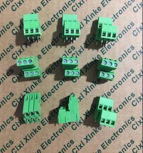 20PCS Screw type PCB terminal block double high and low dislocation terminal XK128A-5.08MM green terminal block