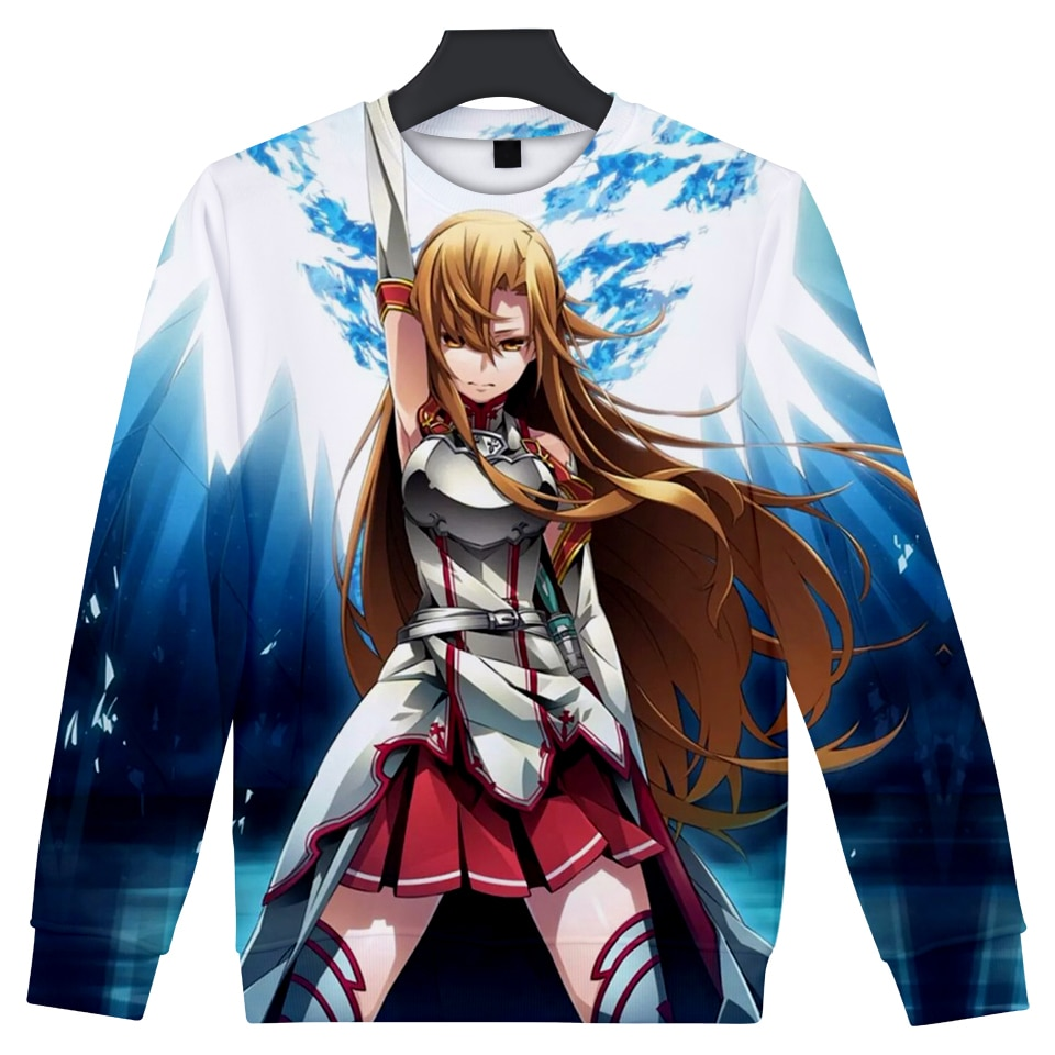 YX GIRL Fashion Sword Art Online SAO 3D Sweatshirt Men Women Harajuku Hip Hop Hoody Pullovers Anime Clothes Sudadera Hombre