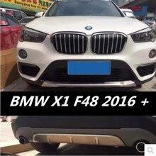 Protecteur de diffuseur de pare-chocs avant et arrière   2 pièces, plaque de protection pour 16 17 18 BMW X1 F48 2016 2017 2018 gratuit EMS