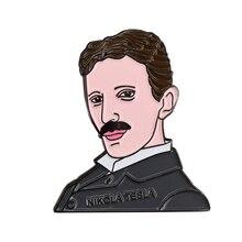 Nikola Tesla Enamel Pin Badge