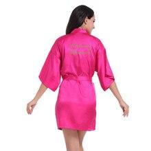 Rose Matron of Honor robe Letter Golden Glitter Print Kimono Robes Women Bachelorette Wedding Bridal Party Robe