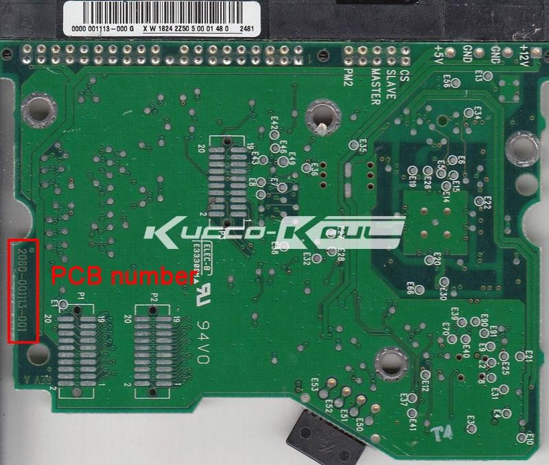 HDD PCB tablero lógica 2060-001113-001 REV para WD 3,5 IDE/PATA Disco Duro reparación Recuperación de datos