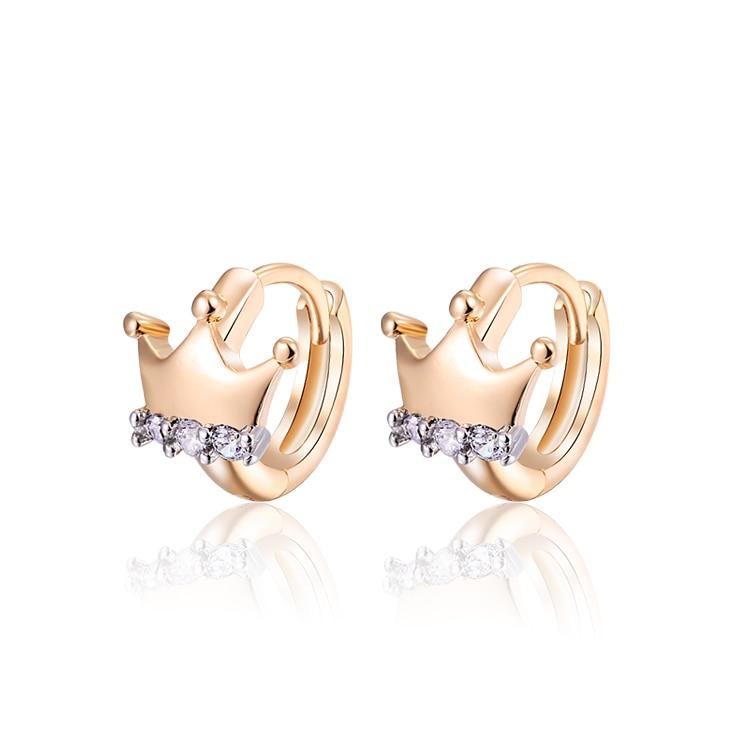 Brand Gold Color Hoop Earrings Pendientes Pearls Brincos Women Bijoux CZ Crystal Earings Fashion Jewelry 15E18K-39