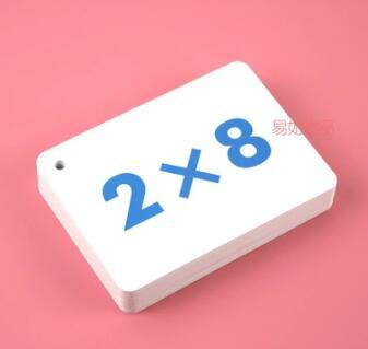 Multiplication table card division table math study card